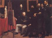 Henri Fantin-Latour A Studio in the Batignolles oil painting picture wholesale